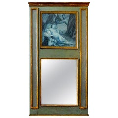 19th Century French Louis XVI Style Grisaille Trumeau
