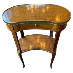 19th Century French Louis XVI Style Kidney Side Table