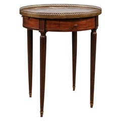 19th Century French Louis XVI Style Mahogany Bouillotte Table