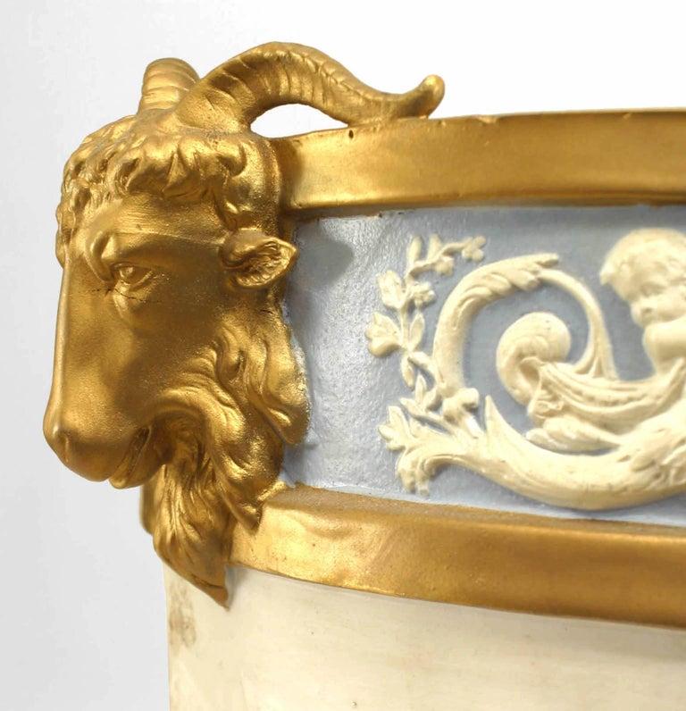 19th Century French Louis XVI Style Sèvres Porcelain Jardiniere For Sale 1
