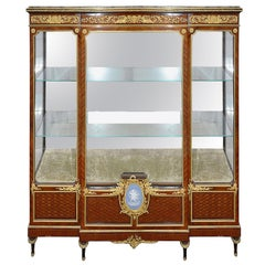 19th Century French Louis XVI style Vitrine, after Linke