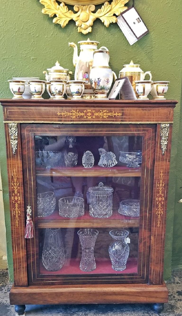 19th Century French Louis XVI Style Vitrine For Sale 5