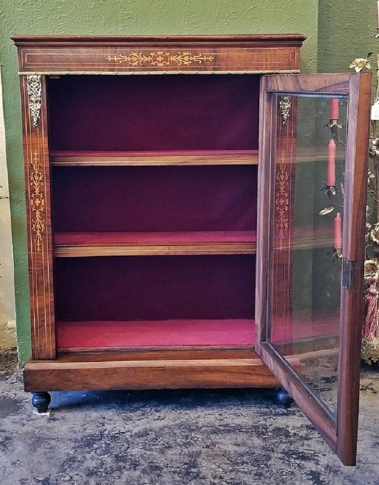 19th Century French Louis XVI Style Vitrine For Sale 1