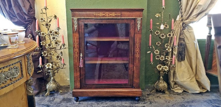19th Century French Louis XVI Style Vitrine For Sale 2