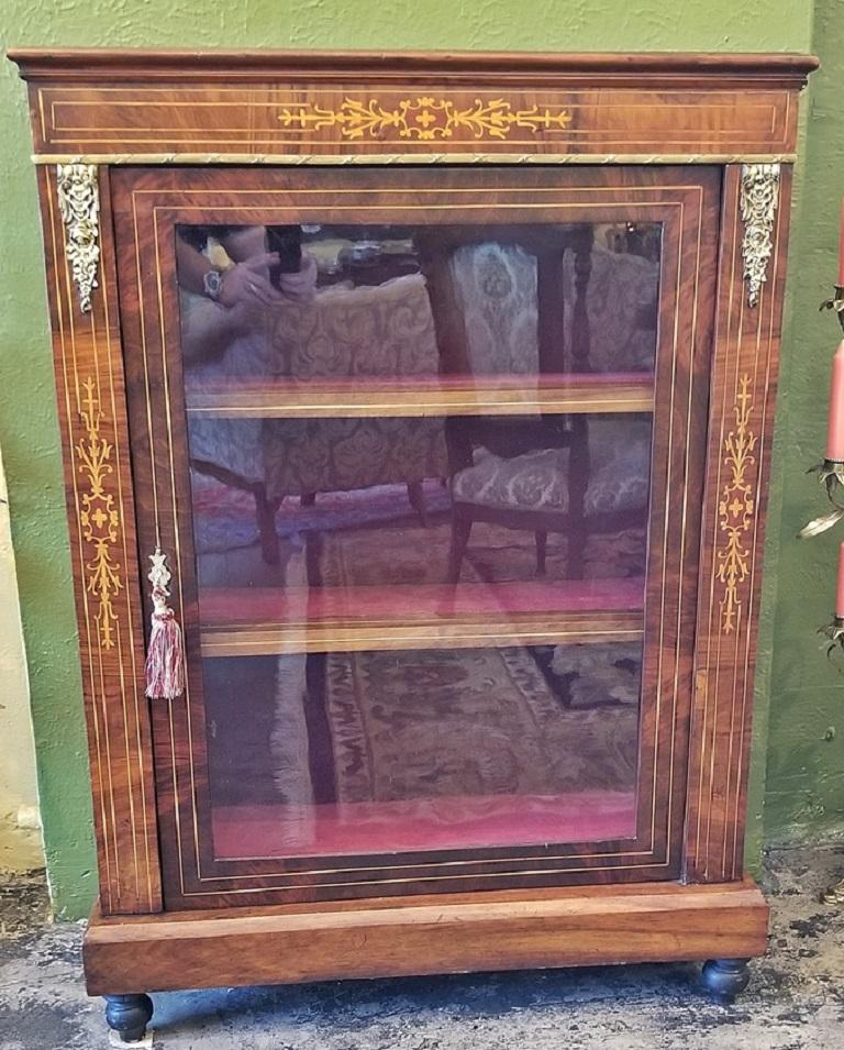 19th Century French Louis XVI Style Vitrine For Sale 4