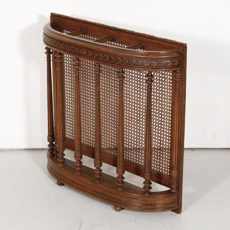 19th Century French Louis XVI Style Walnut and Cane Porte-Parapluie or Umbrella For Sale 2