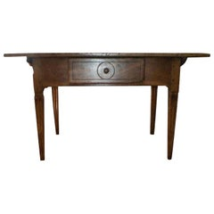 19th Century French Louis XVI Style Walnut Cobbler's Table