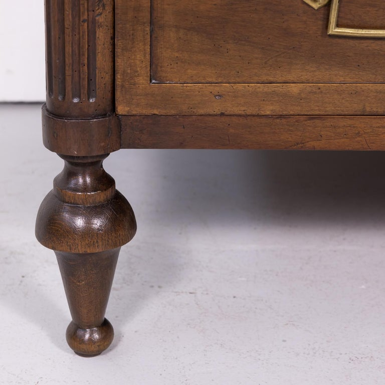 19th Century French Louis XVI Style Walnut Commode or Chest of Drawers For Sale 8