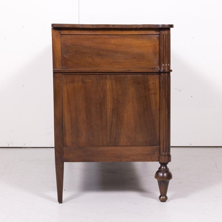 19th Century French Louis XVI Style Walnut Commode or Chest of Drawers For Sale 9