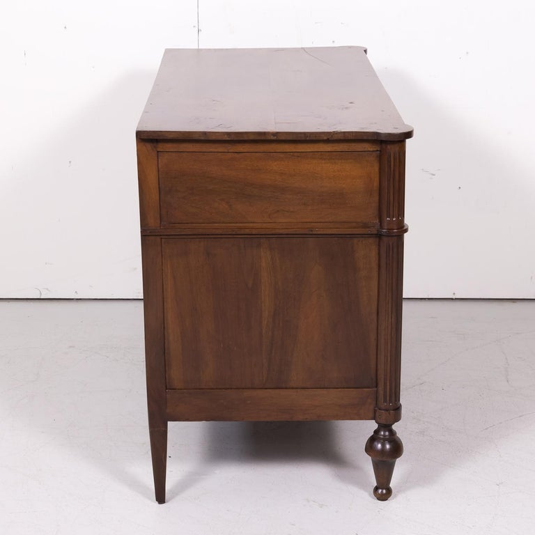 19th Century French Louis XVI Style Walnut Commode or Chest of Drawers For Sale 10