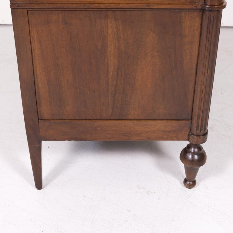 19th Century French Louis XVI Style Walnut Commode or Chest of Drawers For Sale 11