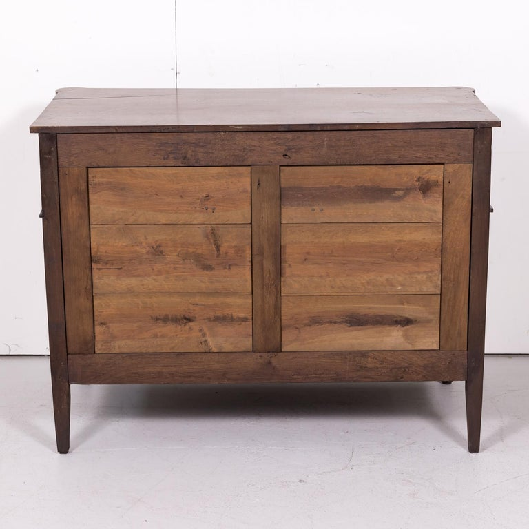 19th Century French Louis XVI Style Walnut Commode or Chest of Drawers For Sale 12
