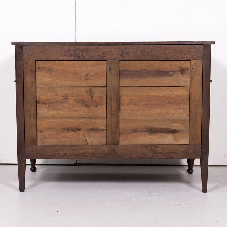19th Century French Louis XVI Style Walnut Commode or Chest of Drawers For Sale 13