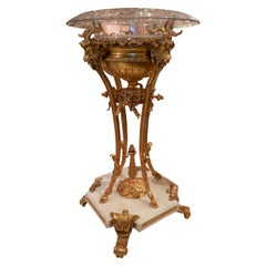19th Century French Louis XVI White Marble and Gilt Bronze Centerpiece