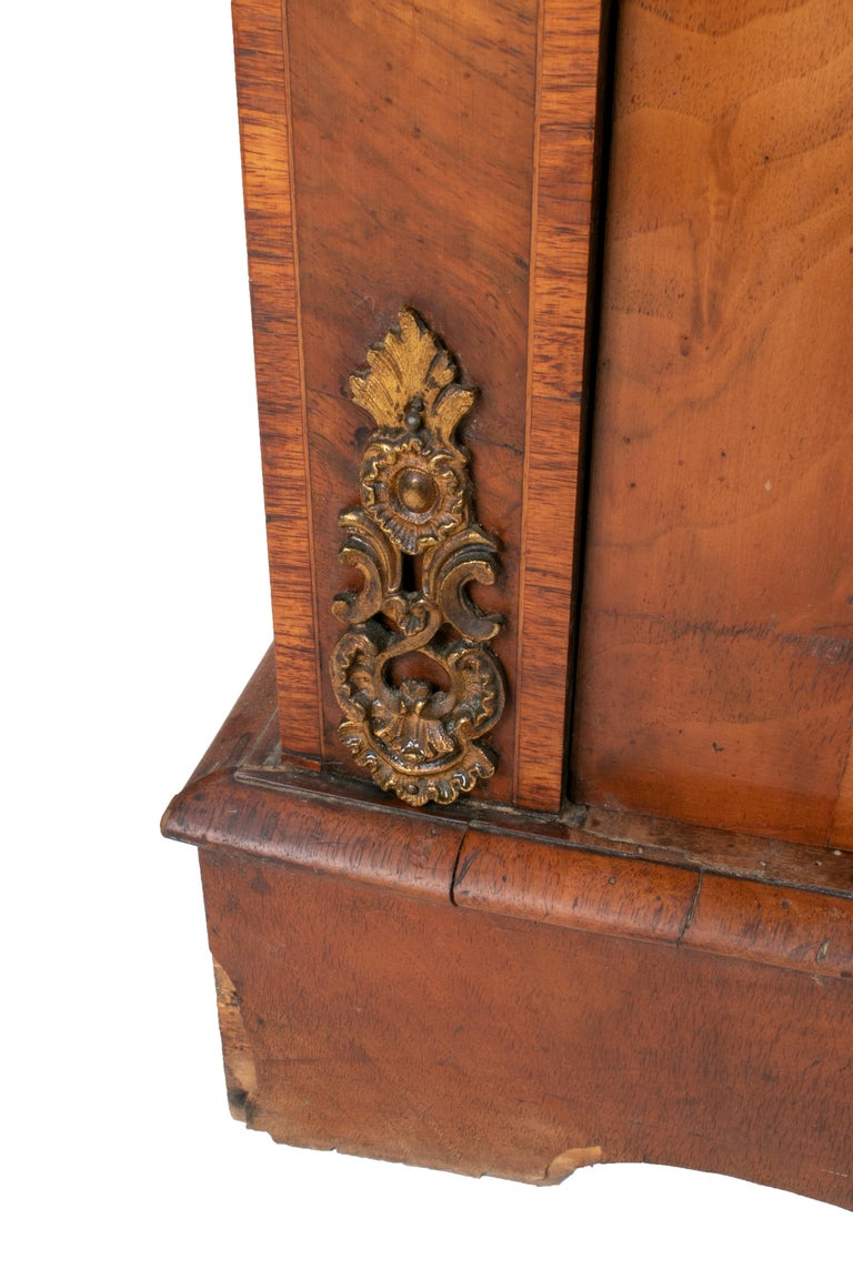 19th Century French Low Wall Cabinet with Door and Bronze Fittings For Sale 7