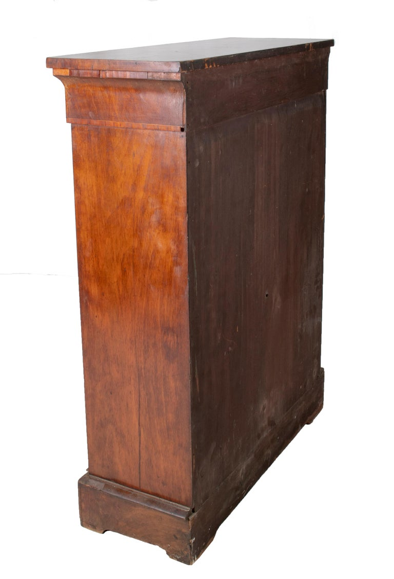 19th Century French Low Wall Cabinet with Door and Bronze Fittings For Sale 2