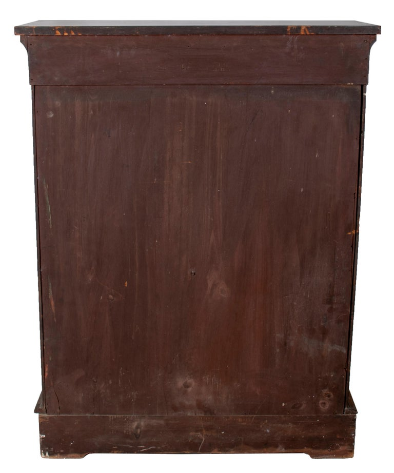 19th Century French Low Wall Cabinet with Door and Bronze Fittings For Sale 3