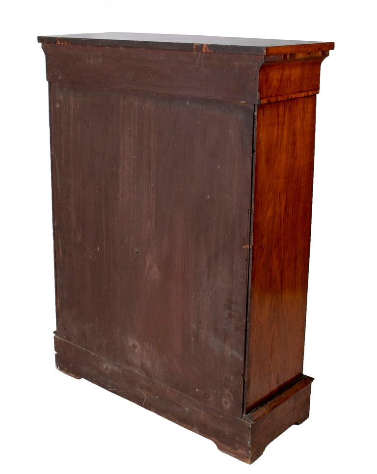 19th Century French Low Wall Cabinet with Door and Bronze Fittings For Sale 4