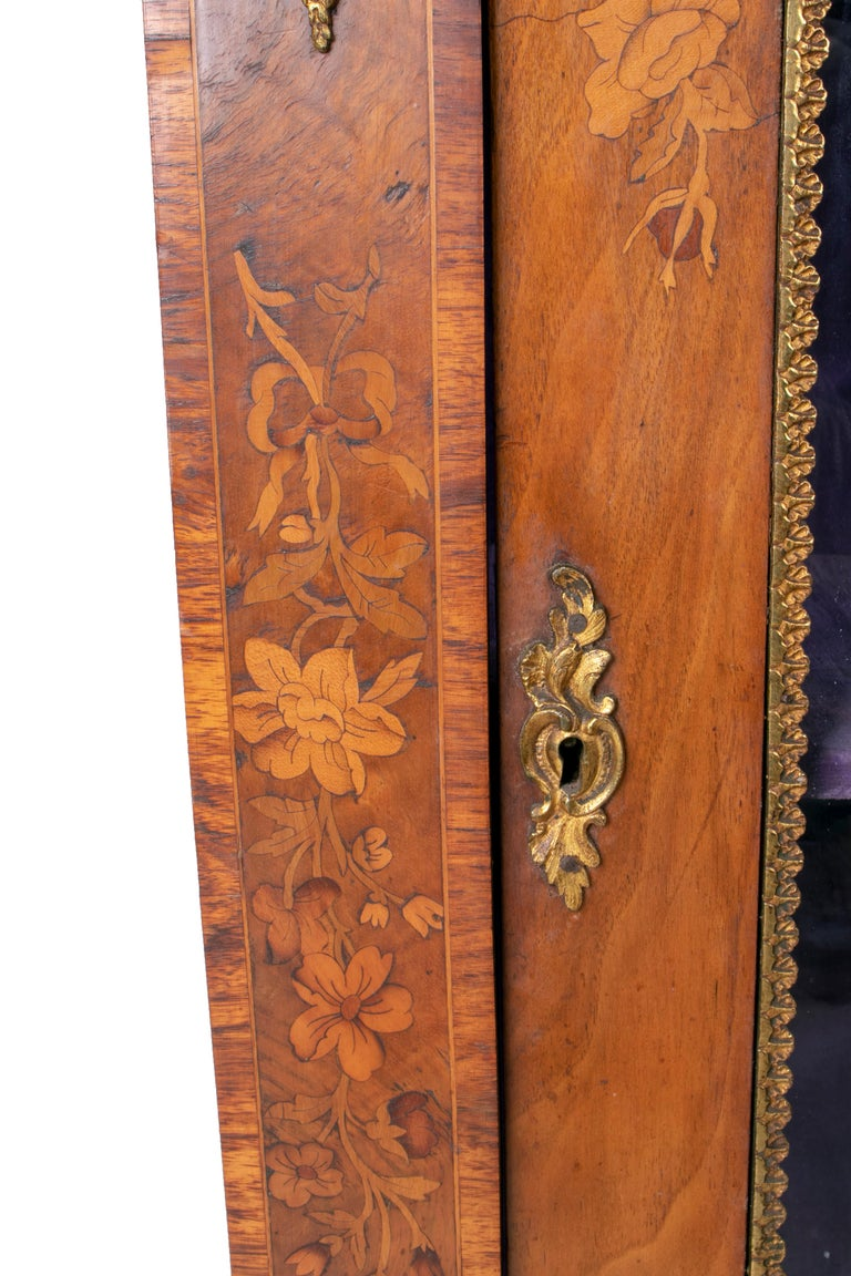 19th Century French Low Wall Cabinet with Door and Bronze Fittings For Sale 6
