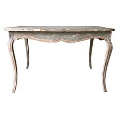 19th Century French Lxv Style Painted Table