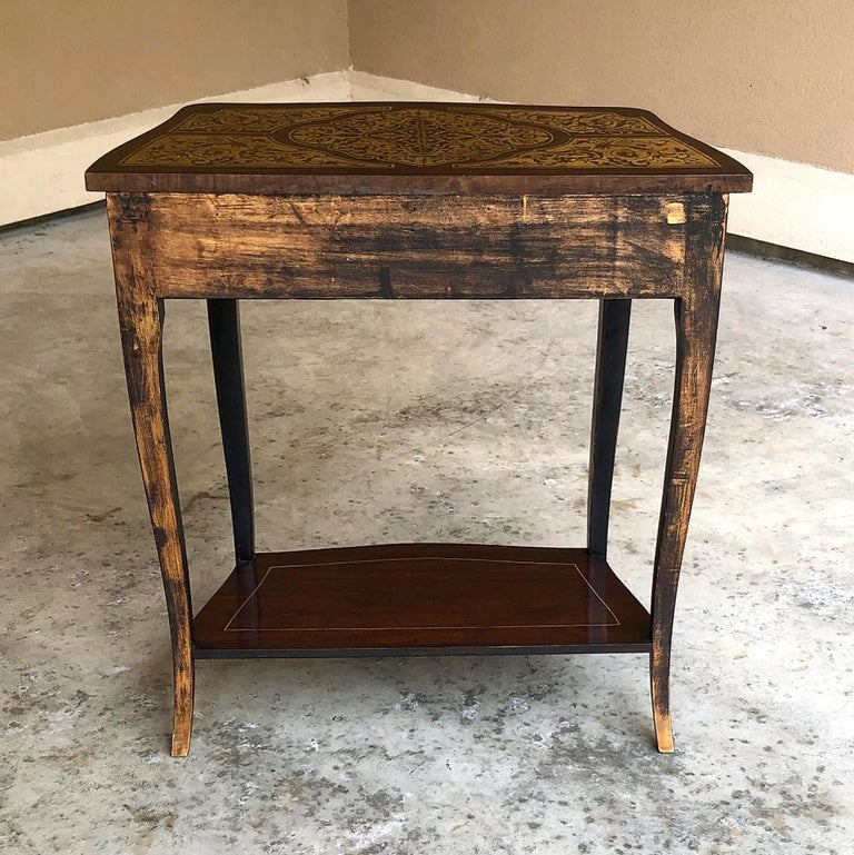 19th Century French Mahogany Console Intricately Inlaid with Brass For Sale 7