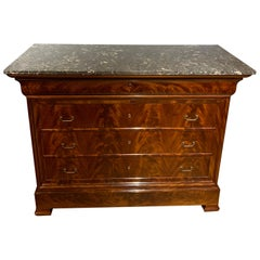 19th Century French Mahogany Commode