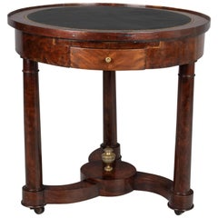 19th Century French Mahogany Gueridon or Game Table