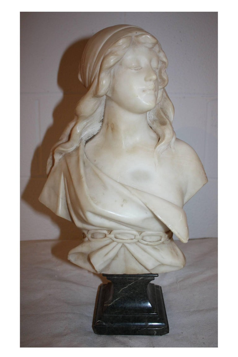19th century French marble bust.