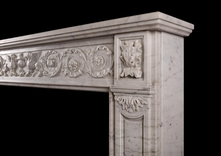 19th Century French Marble Fireplace In Good Condition For Sale In London, GB
