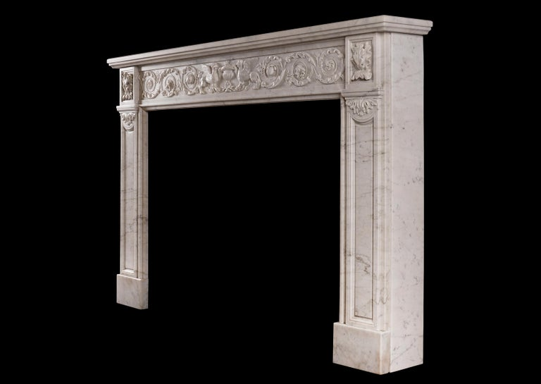 18th Century 19th Century French Marble Fireplace For Sale