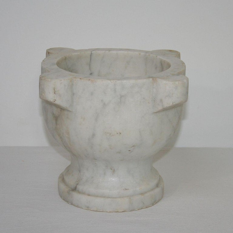 French Provincial 19th Century French Marble Mortar For Sale