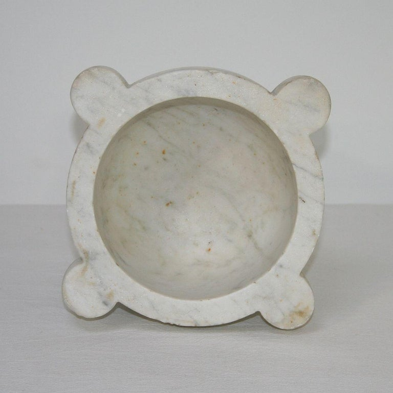 19th Century French Marble Mortar In Good Condition For Sale In Amsterdam, NL