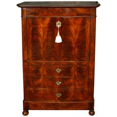 19th Century French Marble-Top Secretary