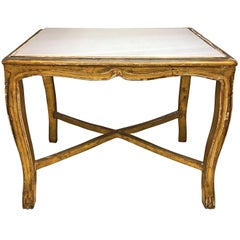 19th Century French Marble-Top Table