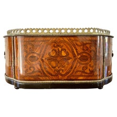 19th Century French Marquetry Jardiniere Box with Bronze Ormolu Mounts