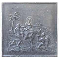 19th Century French 'Mary and Joseph' Fireback