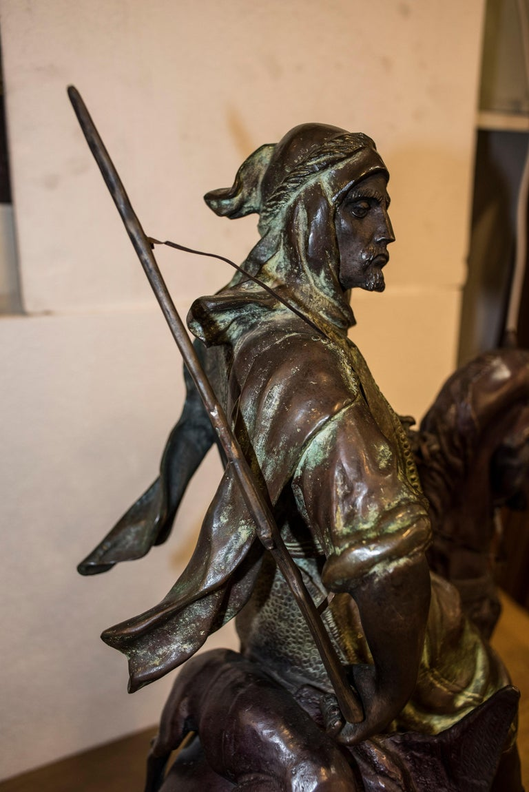 19th Century French Mid-Brown Color Alfred Barye Bronze Sculpture 4