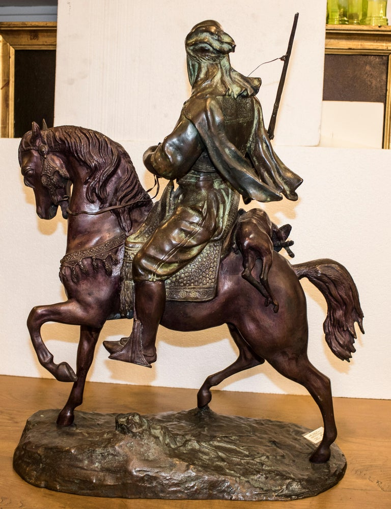 19th Century French Mid-Brown Color Alfred Barye Bronze Sculpture 7