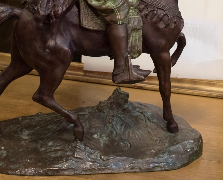 Napoleon III 19th Century French Mid-Brown Color Alfred Barye Bronze Sculpture