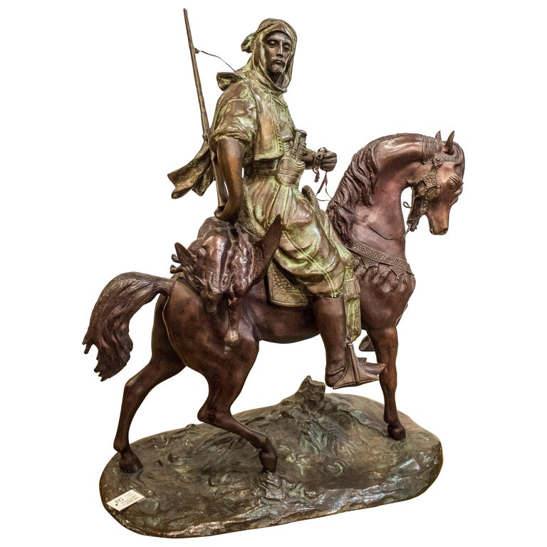 19th Century French Mid-Brown Color Alfred Barye Bronze Sculpture