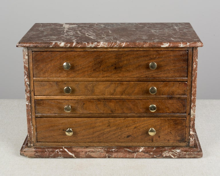French Provincial 19th Century French Miniature Chest For Sale