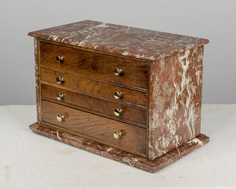 19th Century French Miniature Chest In Good Condition For Sale In Winter Park, FL