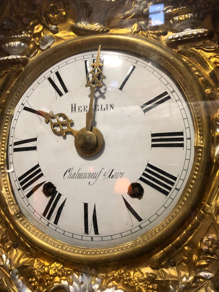 19th Century French Morbier Tall Case Clock For Sale 8
