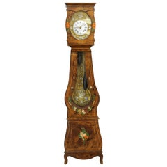 19th Century French Morbier Tall Case Clock