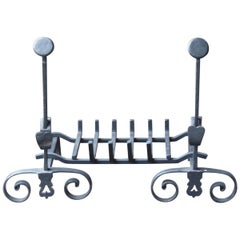 19th Century French Napoleon III Fire Grate, Fireplace Grate