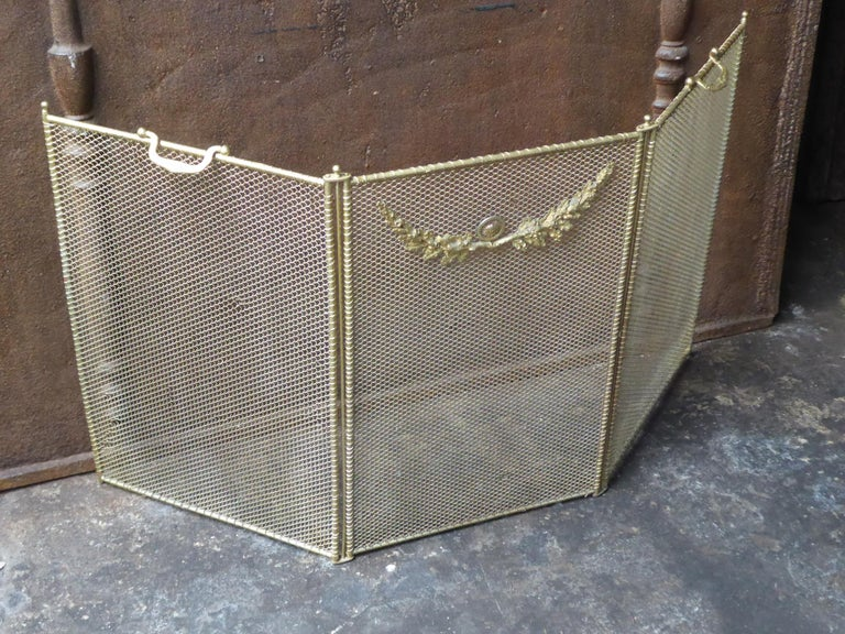 Iron 19th Century French Napoleon III Fireplace Screen or Fire Screen For Sale