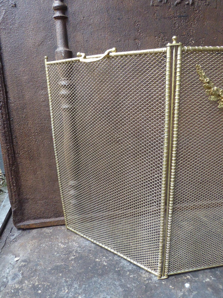 19th Century French Napoleon III Fireplace Screen or Fire Screen For Sale 1