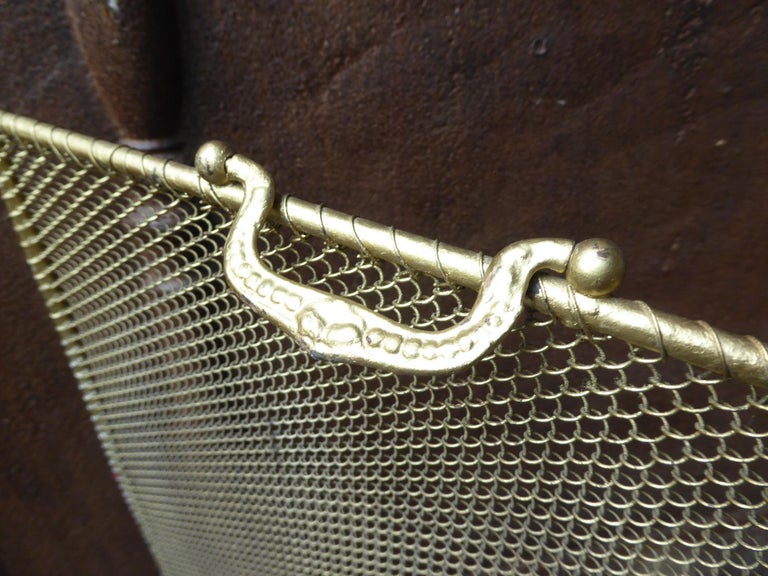 19th Century French Napoleon III Fireplace Screen or Fire Screen For Sale 2