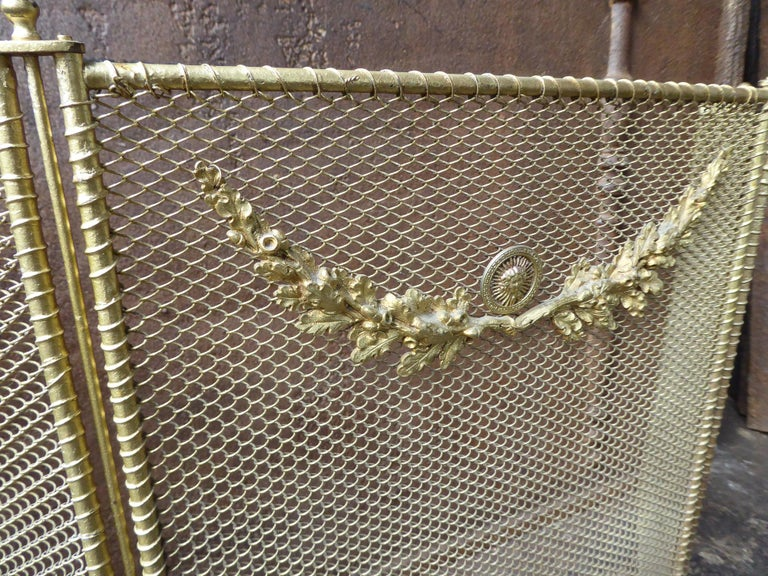 19th Century French Napoleon III Fireplace Screen or Fire Screen For Sale 3