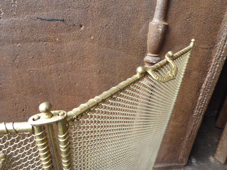19th Century French Napoleon III Fireplace Screen or Fire Screen For Sale 5